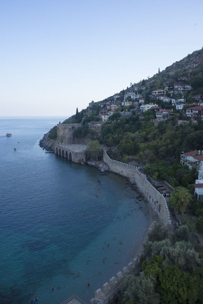 Alanya Architecture Blue Clear Sky Coast Coastline Enjoying The View Heritage Horizon Over Water Landscape Mountain Nature Outdoors Scenics Sea Shore Tourism Tranquil Scene Tranquility Travel Destinations Water