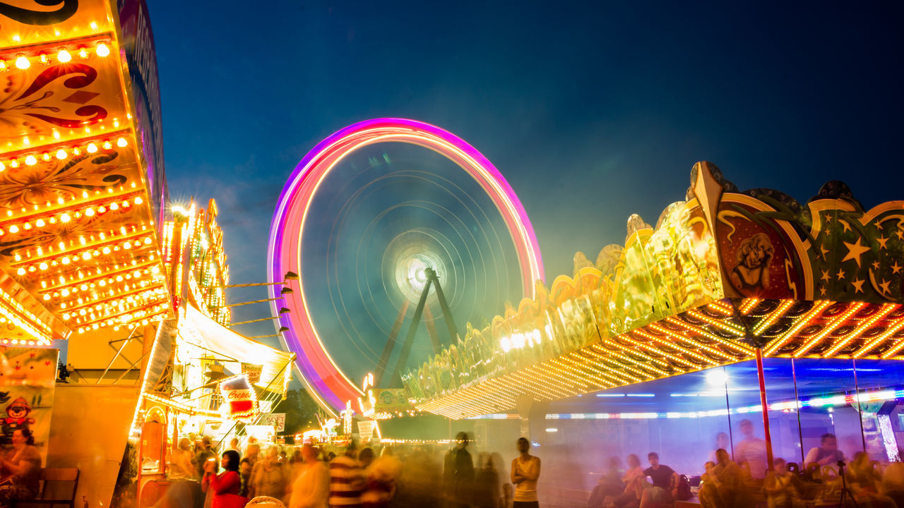 Gorgeous shot of the Karlsruher Messe, Germany! Boxauto Bw Celebration City Crowd Deutschland Event Ferris Wheel Germany Holiday - Event Illuminated Karlsruhe Large Group Of People Light Lights Messe Night Nightphotography Outdoors People Riesenrad Sky Travel Destinations