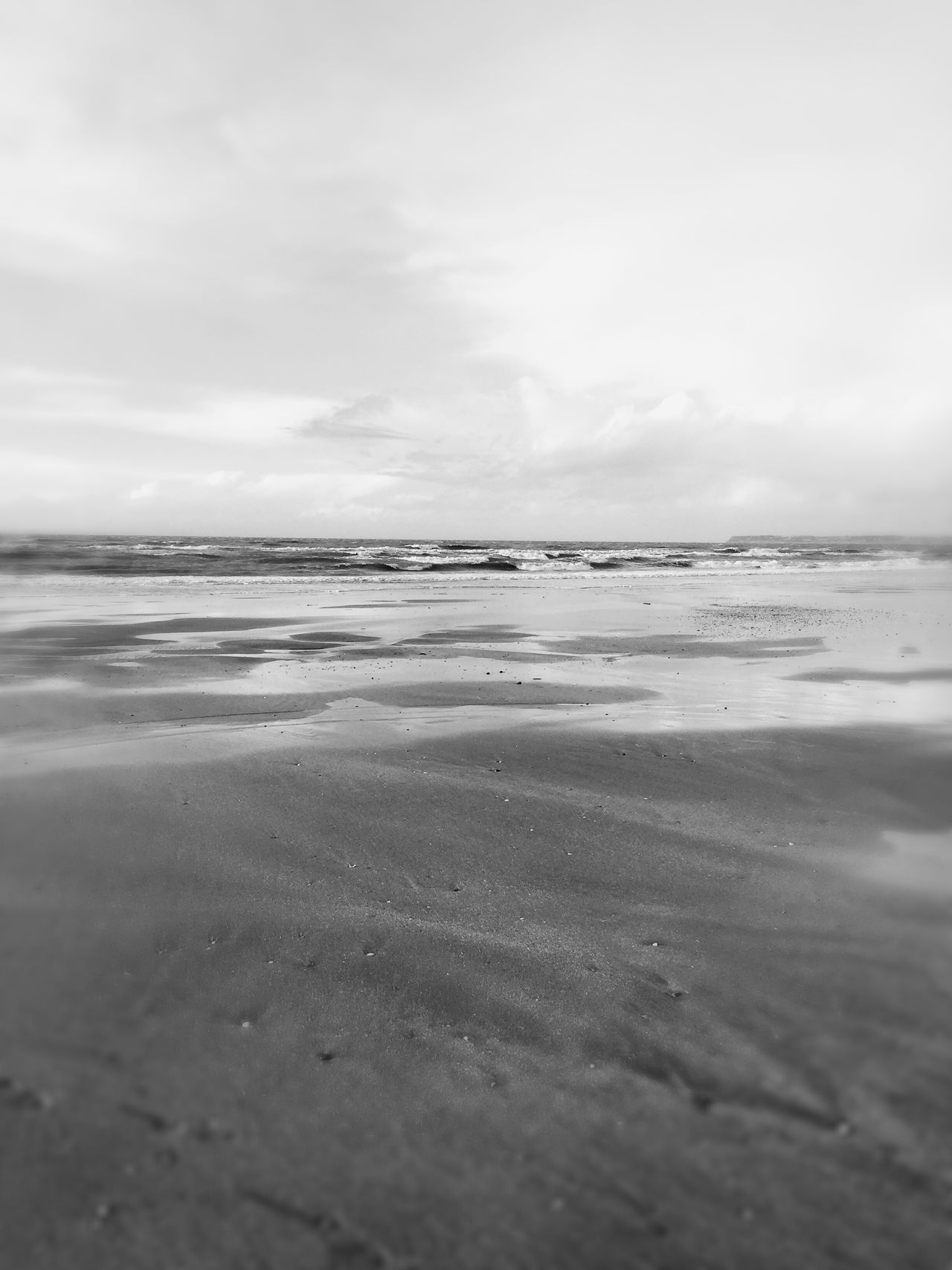 Blackandwhite France Sea Beach OpenEdit Nature Normandie