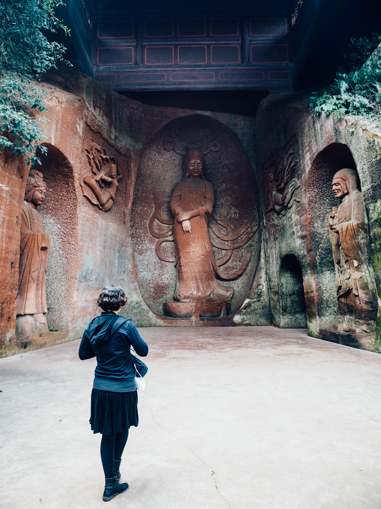 Adult Adults Only Architecture Buddha China Day Full Length Outdoors People Real People Rear View Relief Statue Tourist