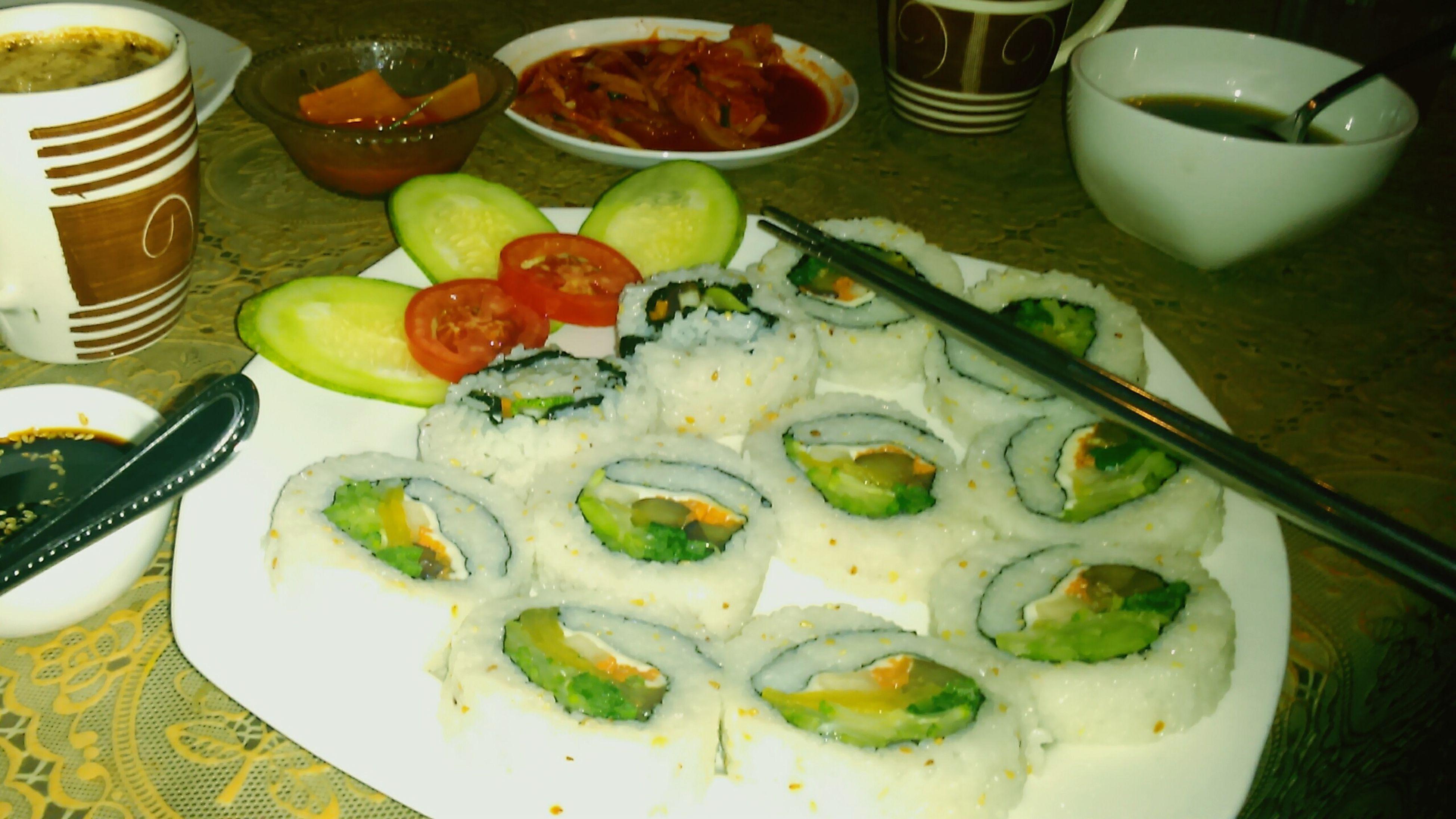 KOREAN Food Asian  Kimbab Kimchi Miso_Soup Rice Tasty Good_day