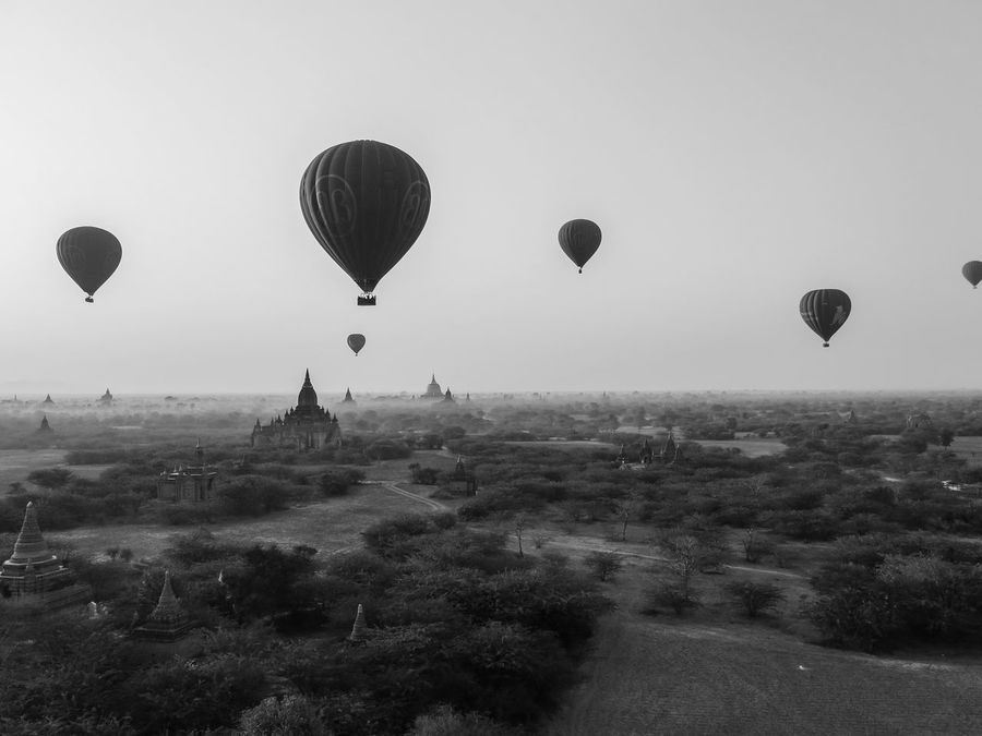 Bagan Beautiful Black And White Buda Buddhism Budhism Expectacular Hot Air Balloon Hot Air Balloons Hotairballoon Hotairballoons Majestic Myanmar Nature Sunrise Surreal Temple Unreal