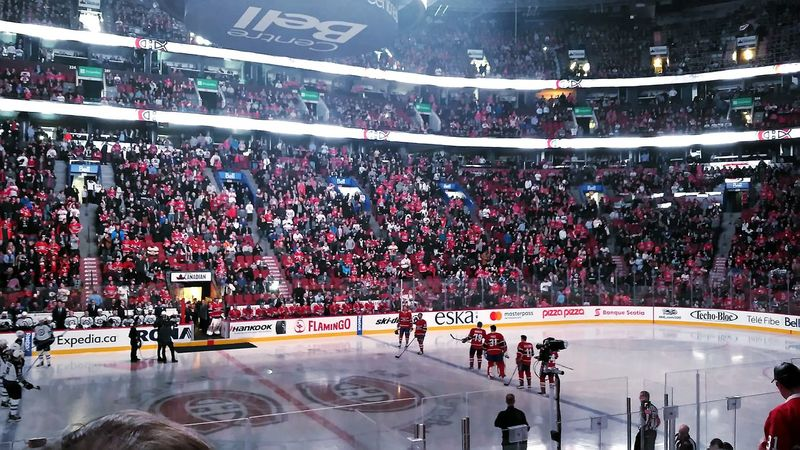Canadian Winter Montréal Downtown Montreal Canadiens Professional Sport Fan - Enthusiast Sports Team NHL Ice Hockey Habs Stadium Hockey Athlete Ice Rink
