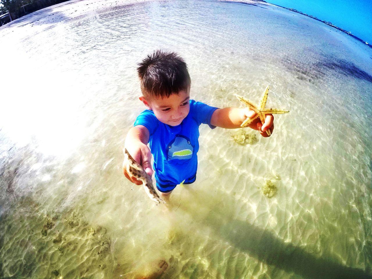 Beach Beachphotography Child Starfish At Beach Enjoylife Cheerful Day Happinessishere MyEyemPhoto Philippine Islands Philippinesbeaches Sky