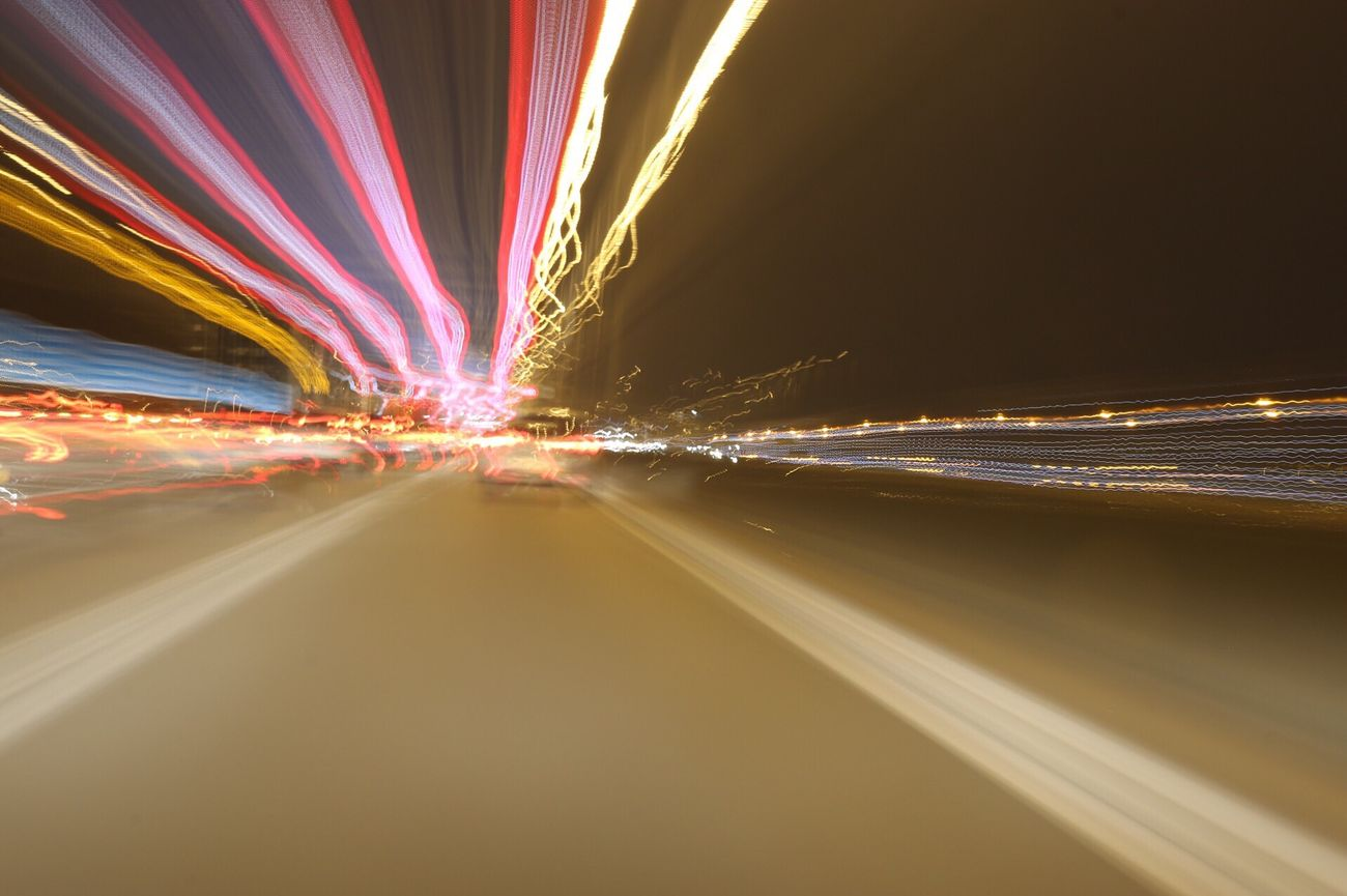 Long Exposure Transportation Road Light Trail Motion Speed Illuminated Night Blurred Motion Outdoors Multi Colored No People Sky Colorful Scenics London Light Up Your Life Light In The Darkness Motorway