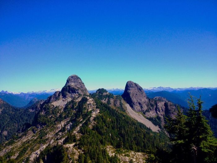 Looking at Vancouver's famous Lions from Unnecessary Mountain Hiking Mountains Vancouver Nature