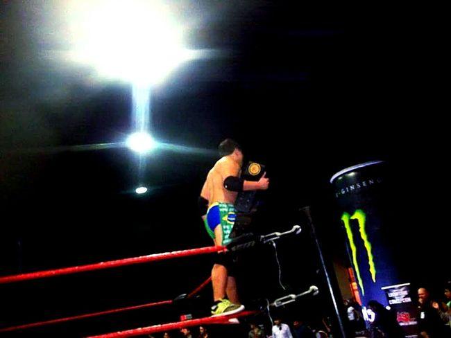 Mientras siga respirando, pondre todo en juego. Wrestling Wrestler Lucha Libre Accion Sin Limites Concepcion, CHile Campeon Champion