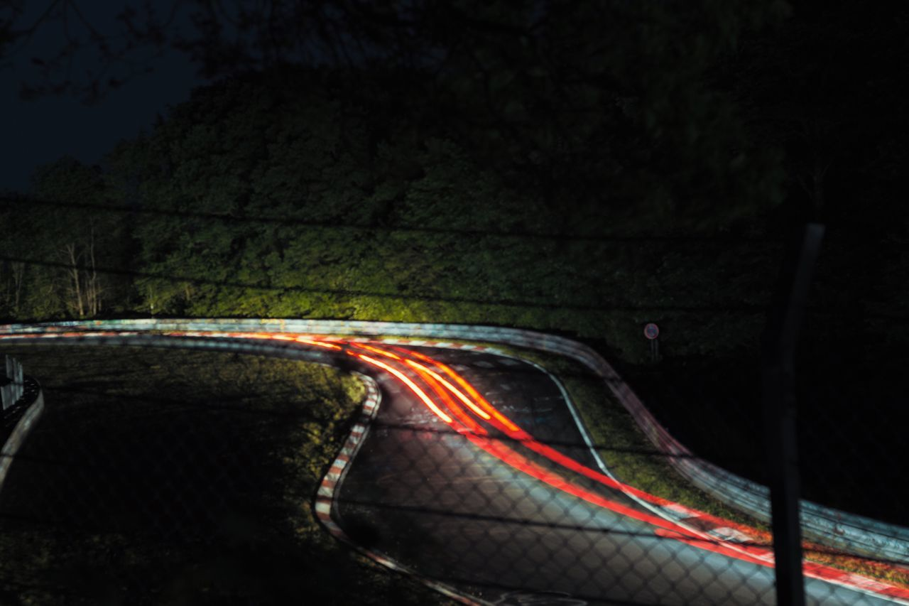 hard on the brakes🏁🔥 Night Transportation Road No People Illuminated Outdoors Sport Close-up Long Exposure Racing Brakelights Night Lights Nürburgring Racetrack Nurburgring