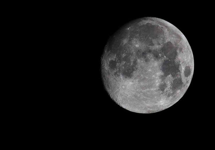 Moon Full Moon Zoom Night Shining Light And Shadow