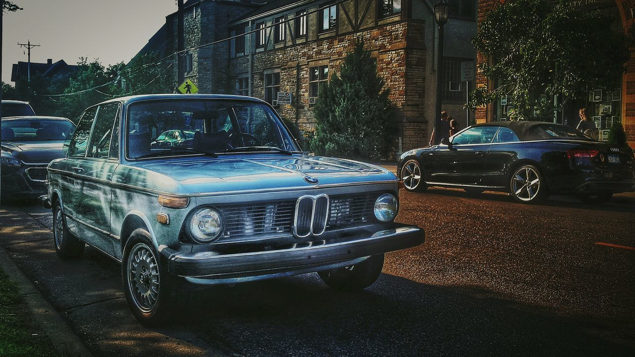 BMW 2002Ti UptownMPLS East Isles Lowry Hill District Urban Landscape Classic Car Urbanphotography Minneapolis Urban Photography Cityscapes Cityscape Urbanscape Streetphotography Minnesota Bmw Classic European Cars