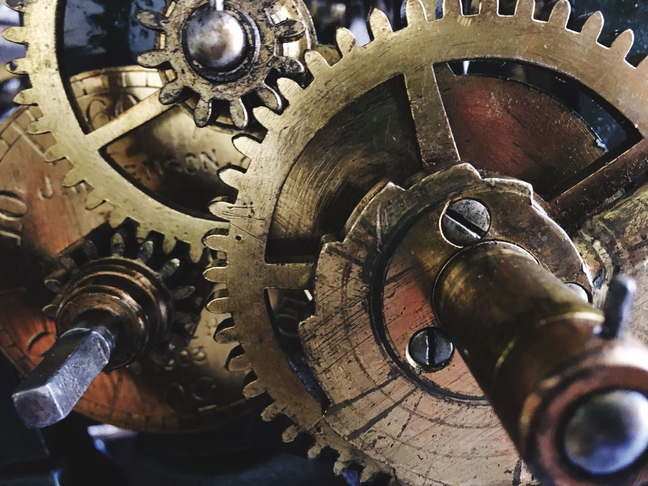 Maximum Closeness Clock Old Clock Brass Machine Gear The Netherlands Time Second Ticking Close Up Technology
