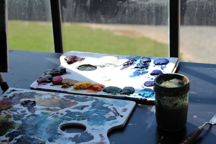 colors. Brush Color Day Light No People Painting Pallete Sun