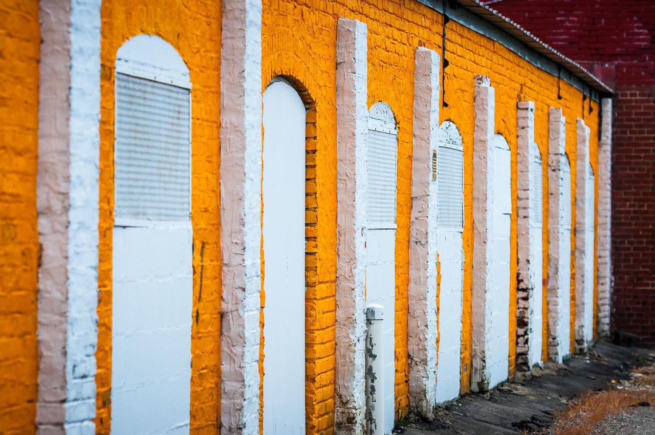 Orange Brick Wall Building