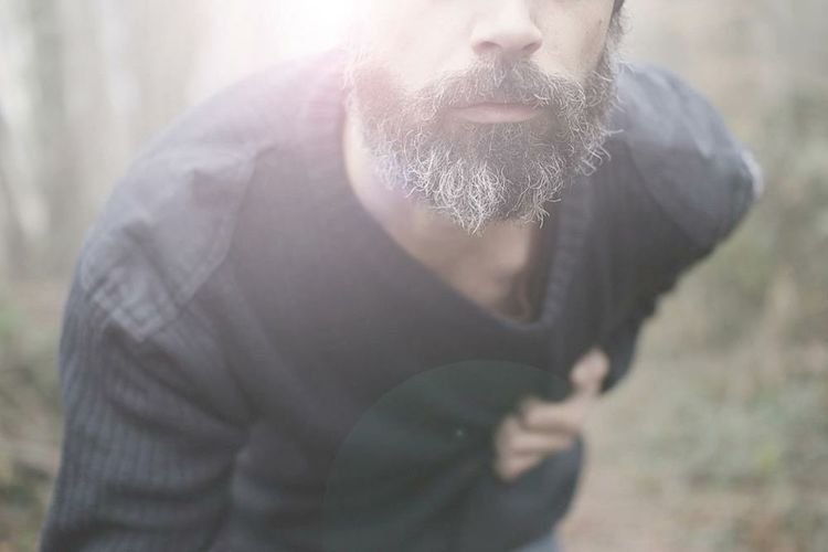 Self Portrait That's Me Forest Winter Beard Heart Loneliness Sadness Nature Man White Beard Blue Sweater Ache Wildlife Wildlife & Nature EyeEm Nature Lover EyeEm Best Shots - Nature The Portraitist - 2016 EyeEm Awards