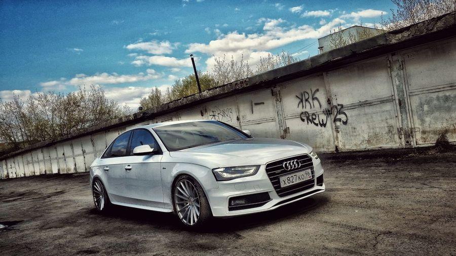 Ekaterinburg Automobile Audi Audi A4 Auto Tuning Styling Dark Side Glass Hello World Toner