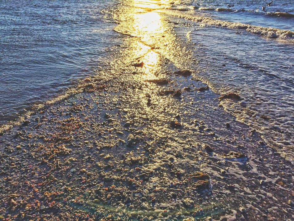 Walking out on the tombolo to Charles Island.... at the end. Water Nature Wave Sunset Outdoors Sea No People Beauty In Nature Motion Day Beach Waves Milford Connecticut New England  Tombolo Sand Shells EyeEm Charles Island Long Island Sound Sunlight