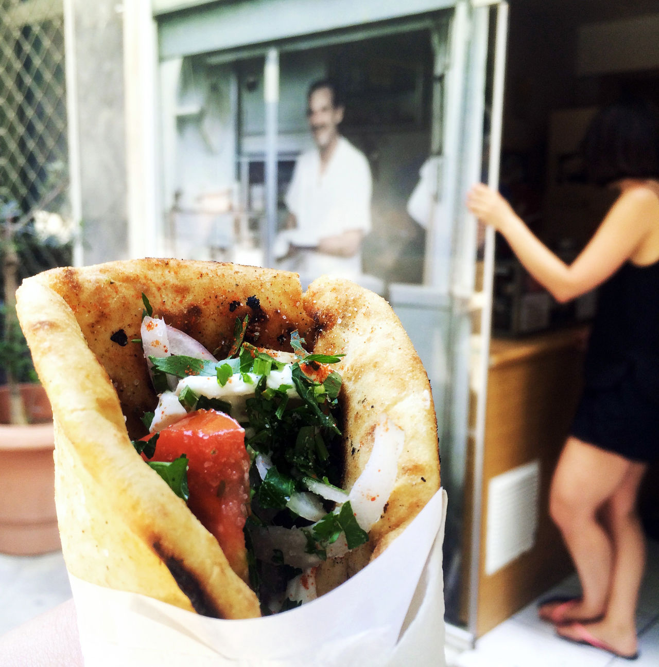 """Gyros Pitta"" in Athens Athens Bread Eating Focus On Foreground Food Food And Drink Freshness Garnish Greece Greek Food Gyros Herbs Hungry Enjoy The New Normal Kebab Lamb Meal Mediterranean  Mediterranean Food Pitta Ready-to-eat Scrumptious Take Out Food Takeaway Temptation"