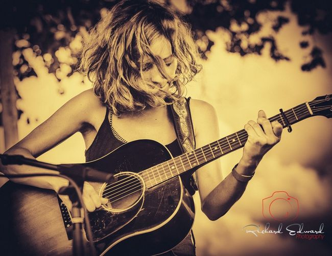 Emily Frantz of the North Carolina folk duo Mandolin Orange Music Guitar Acoustic Guitar Musician