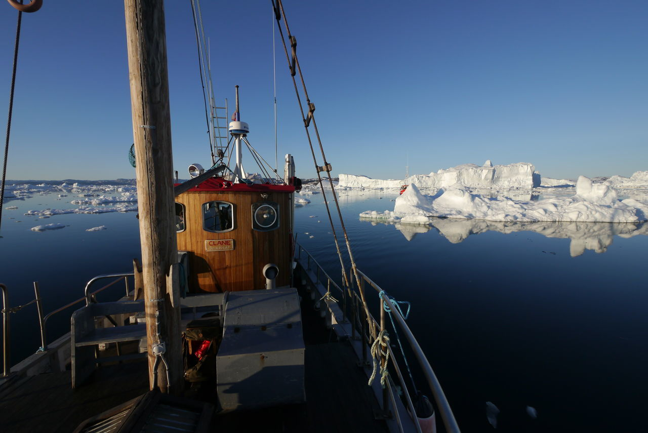 Boat trip Ilulissat, Greenland. Great Colours Combination No People Mirror Picture Calm Water Iceberg - Ice Formation New Talents Disco Bay Exceptional Photographs Beauty In Nature Greenland Finding New Frontiers Outdoors Tranquility Glacier Nature Landscape Travel Arcticsummer Icebergs Water Beauty In Nature Nautical Vessel Golden Hour Spirit Lumix