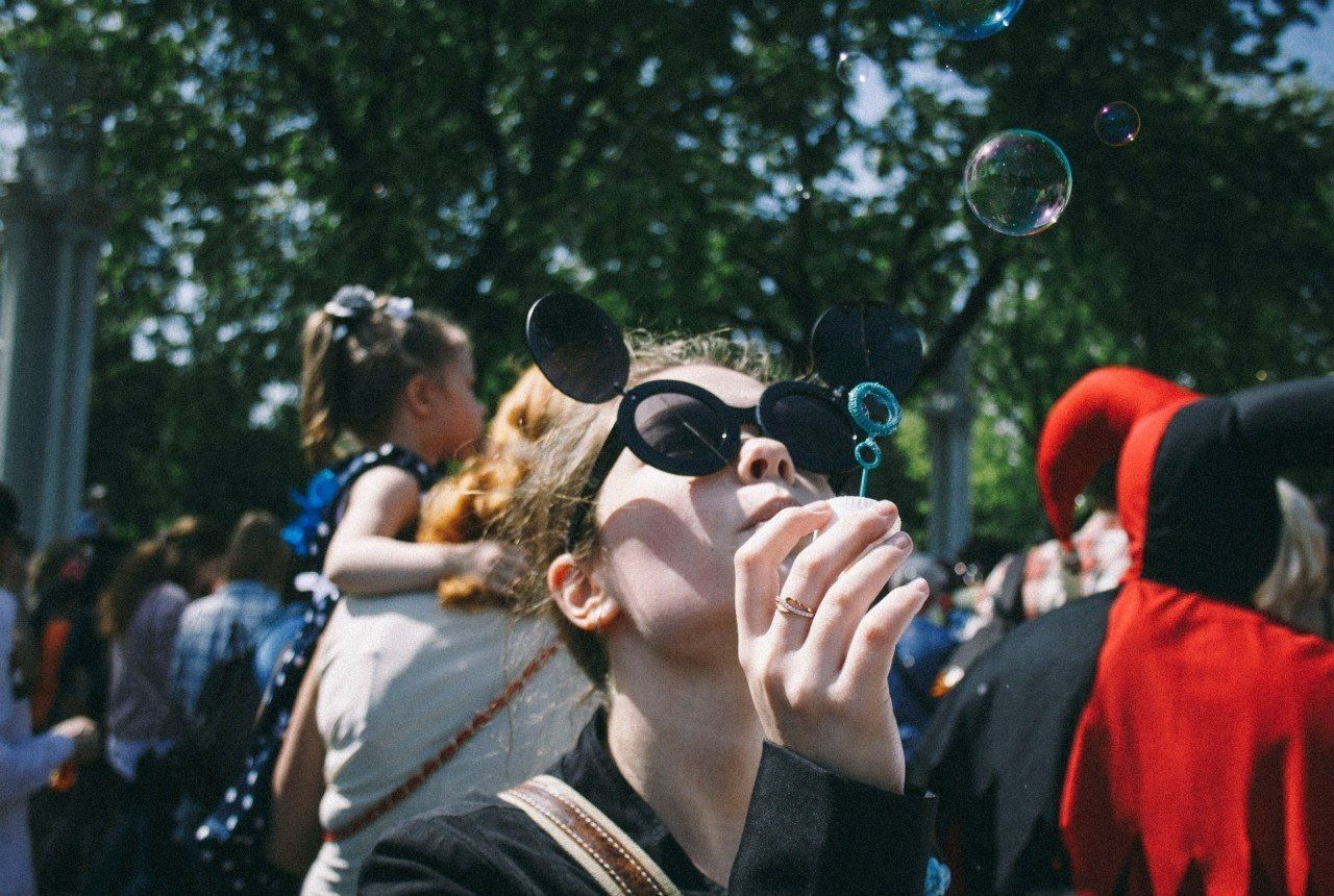 Beautiful stock photos of labor day, Blonde Hair, Blowing, Bubble, Bubble Wand
