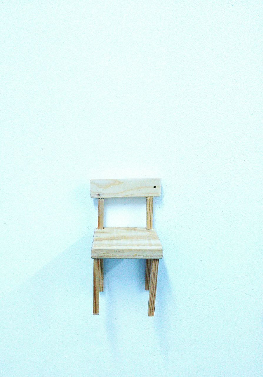 copy space, chair, wood - material, white background, no people, table, indoors, furniture, day, close-up