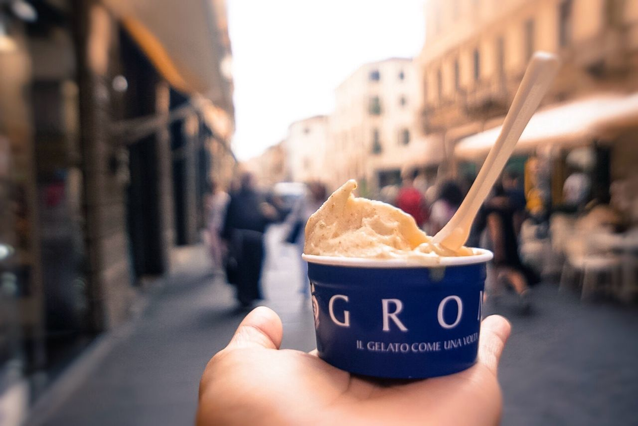 Gelato Cita Chilling Take Out Food Cold Ice Cream Italian Food Holding Freshness Ready-to-eat