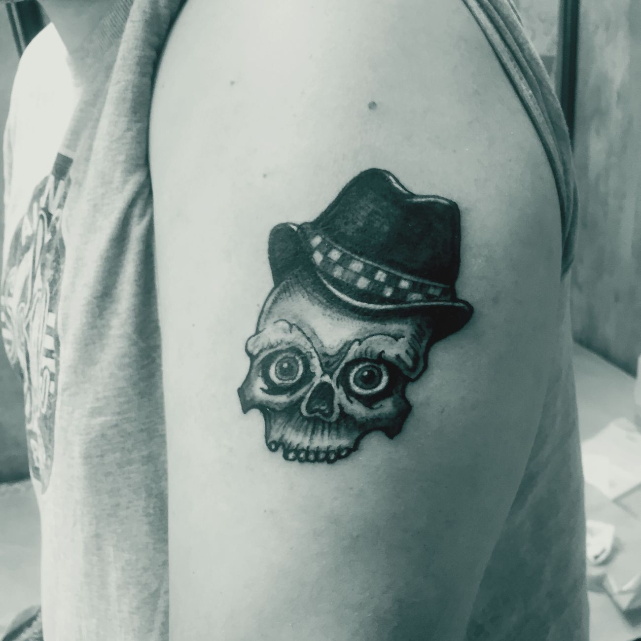 Tieumdeko Tieumdekotattoo Blackwork Tattooartist  Tattooshop Tattoo ❤ Art, Drawing, Creativity Tattooed Inked Tatted Tattoos Tatto Design Amazing Tattoo Ink Blackandwhite Skulls Skull Traditional RudeBoy Gangsta Oldschool Ska