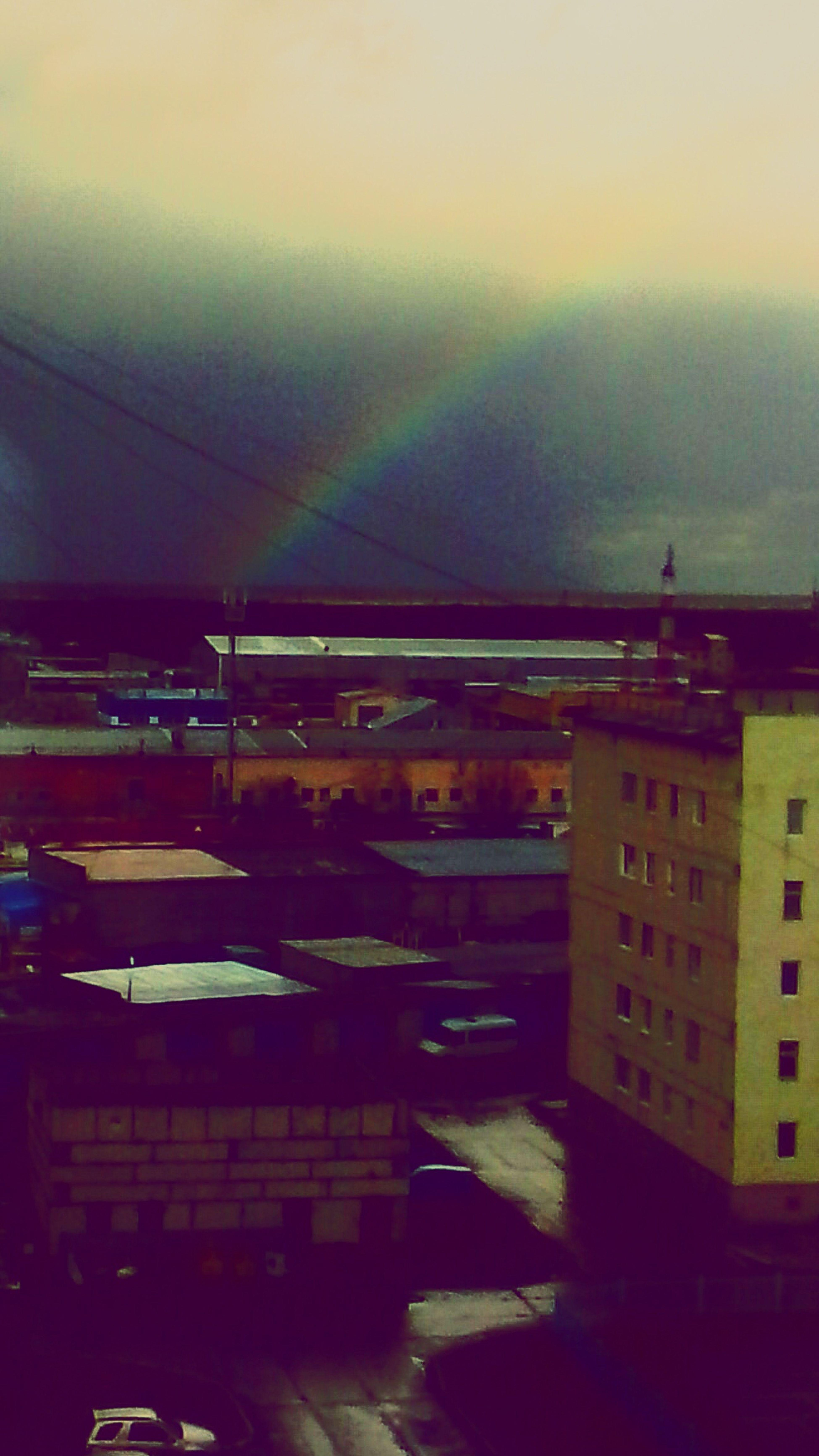 В надыме радуга !!!!! Очень красиво )))