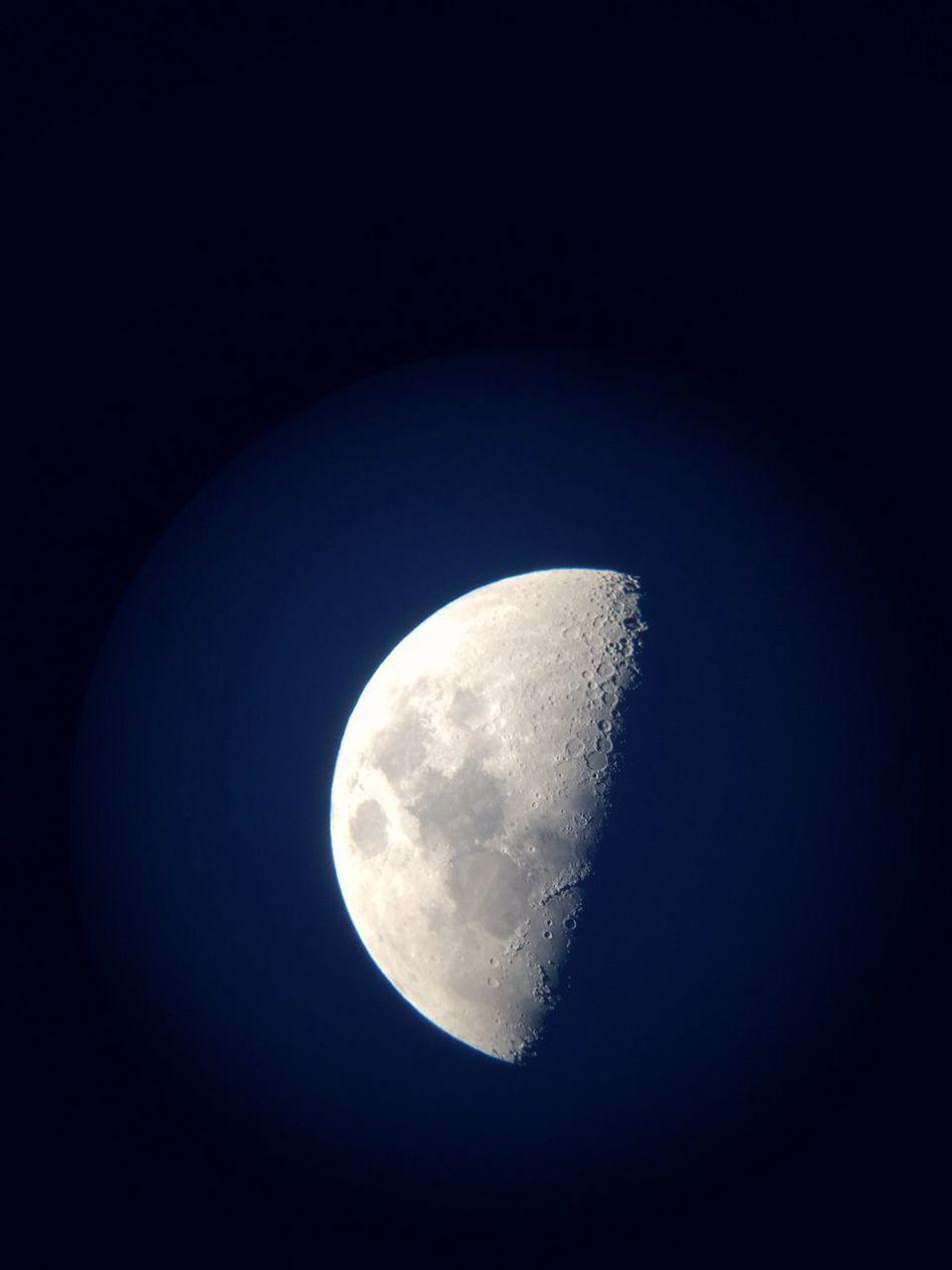 Moon Astronomical Telescope 結構綺麗に撮れましたー♬*゜ Beautiful Moving Love Sky <3 Iphone6camera