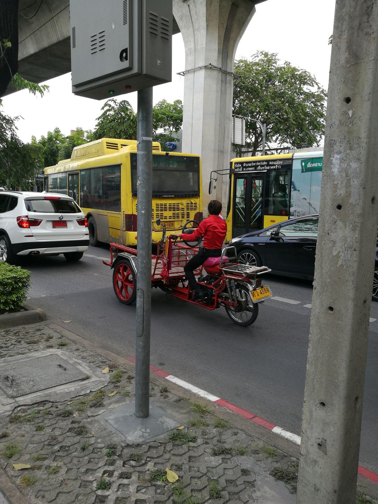 Bangkok racing traffic Car Outdoors Bangkok Road Traffic