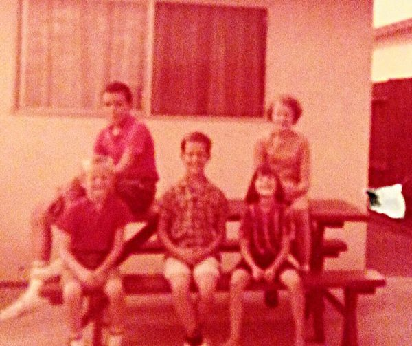 Not a very sharp picture, but all five Radamaker children are in it, Must be sometime in 1967 in the backyard of the house we had just moved into on Hilltonia in West Covina First Eyeem Photo