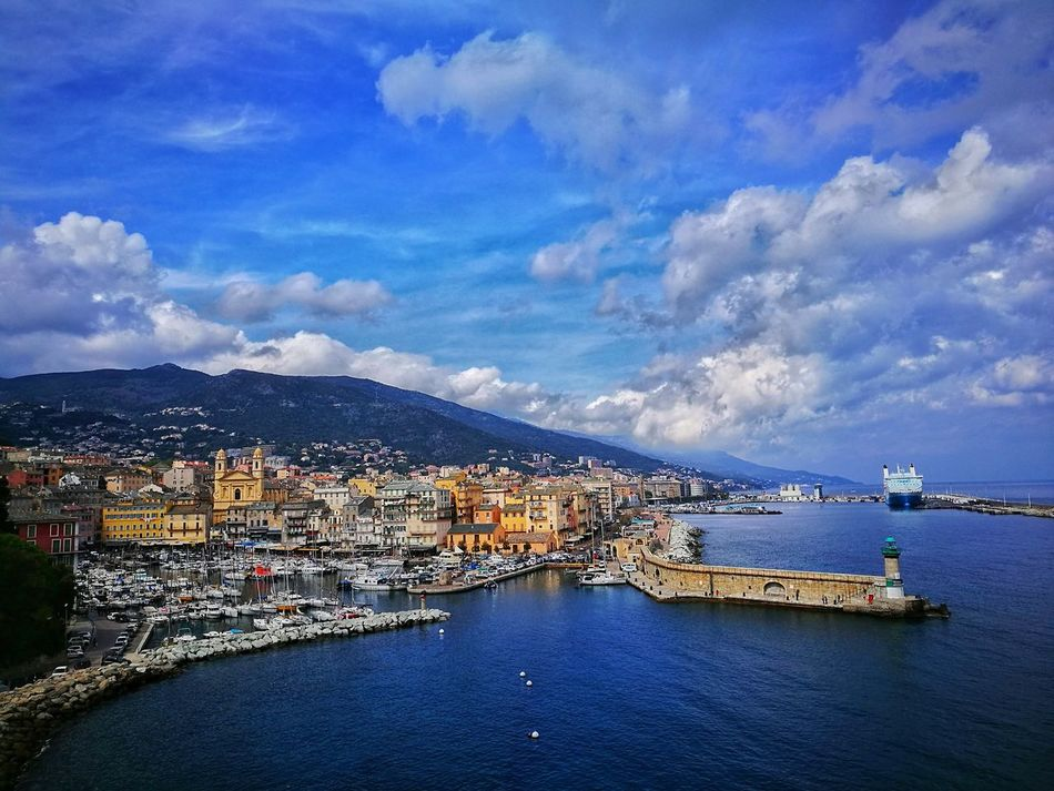 Bastia Sky Sea Water Cloud - Sky Building Exterior Architecture City Blue Outdoors No People Vacations Sailboat Day Corse Marina