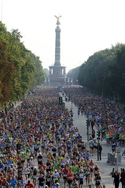 Architecture Crowd Day Large Group Of People Large Group Of Runners Marathon Nature Outdoors People Real People Runners Running Siegessäule  Sky Sports Event  Straße Des 17. Juni Tiergarten Travel Destinations Tree