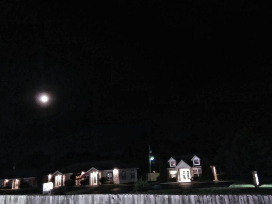 Suburban Moon Moon In The Sky Mood Captures Quaint Perspective Cozy Moments