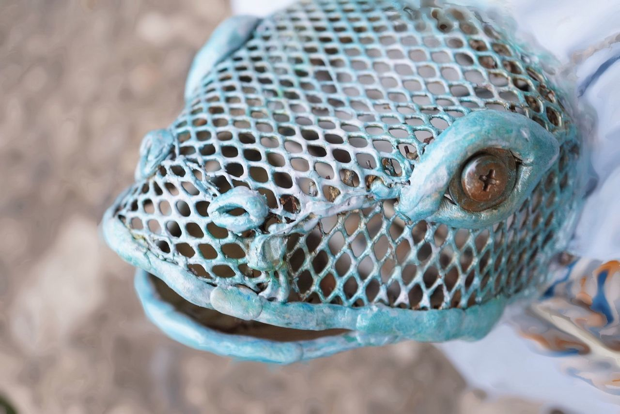 Close-Up Of Metallic Animal Head