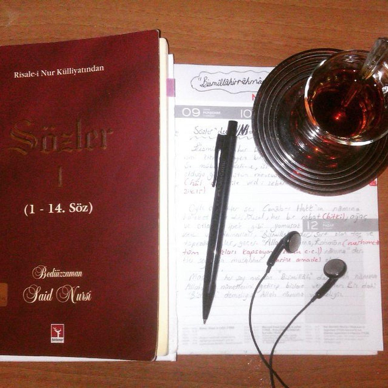 Sözlerden not çıkarmak.. Nasheed dinlemek... Ve Çay İçmek işte bütün mesele bu... :) çay Tea Nasheed Sozler SaidNursi