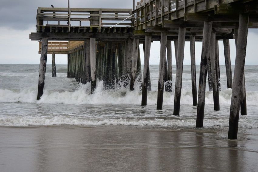 Architecture Beach Built Structure Day Horizon Over Water Nature No People Outdoors Pier Sea Sky Underneath Water Wave