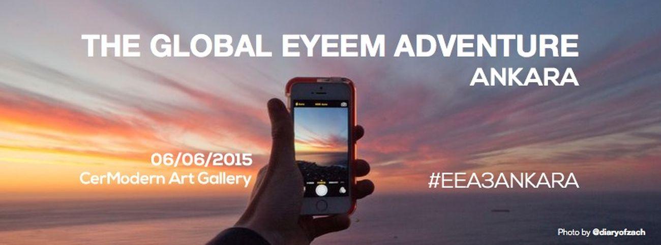 Join the Global EyeEm Adventure on June 6 🇹🇷 Merkezi Berlin'de bulunan EyeEm, 06/06/2015 Cumartesi günü 60 ülkede aynı gün yapılacak mobil fotoğrafçılar etkinliği Türkiye'de ilk kez Ankara'da olacak.📍Daha fazla bilgi için: blog.eyeem.com sitesine bakınız. 🔎 EEA3 EEA3-ANKARA Ankara Cermodern Turkey