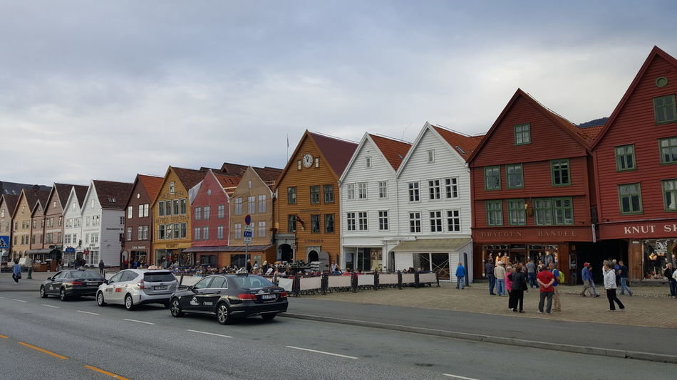 Bryggen (Norwegian for the Wharf), also known as Tyskebryggen (the German Wharf), is a series of Hanseatic commercial buildings lining the eastern side of the fjord coming into Bergen, Norway. Bryggen has since 1979 been on the UNESCO list for World Cultural Heritage sites. The city of Bergen was founded around 1070 within the original boundaries of Tyskebryggen. Around 1350 a Kontor of the Hanseatic League was established there, and Tyskebryggen became the centre of the Hanseatic commercial activities in Norway. Today, Bryggen houses museums, shops, restaurants and pubs. Architecture Architecture_collection Architecturelovers Bar Bars Bars And Restaurants Bryggen Bryggen I Bergen Cafés Cloudy Coffee Shop Cultural Cultural Heritage Hanseatic Hanseatic League Hanseatic Style Architecture Lifestyle Norwegian Rainy Scandinavia The Purist (no Edit, No Filter) Tyskebryggen Unesco UNESCO World Heritage Site Wharf