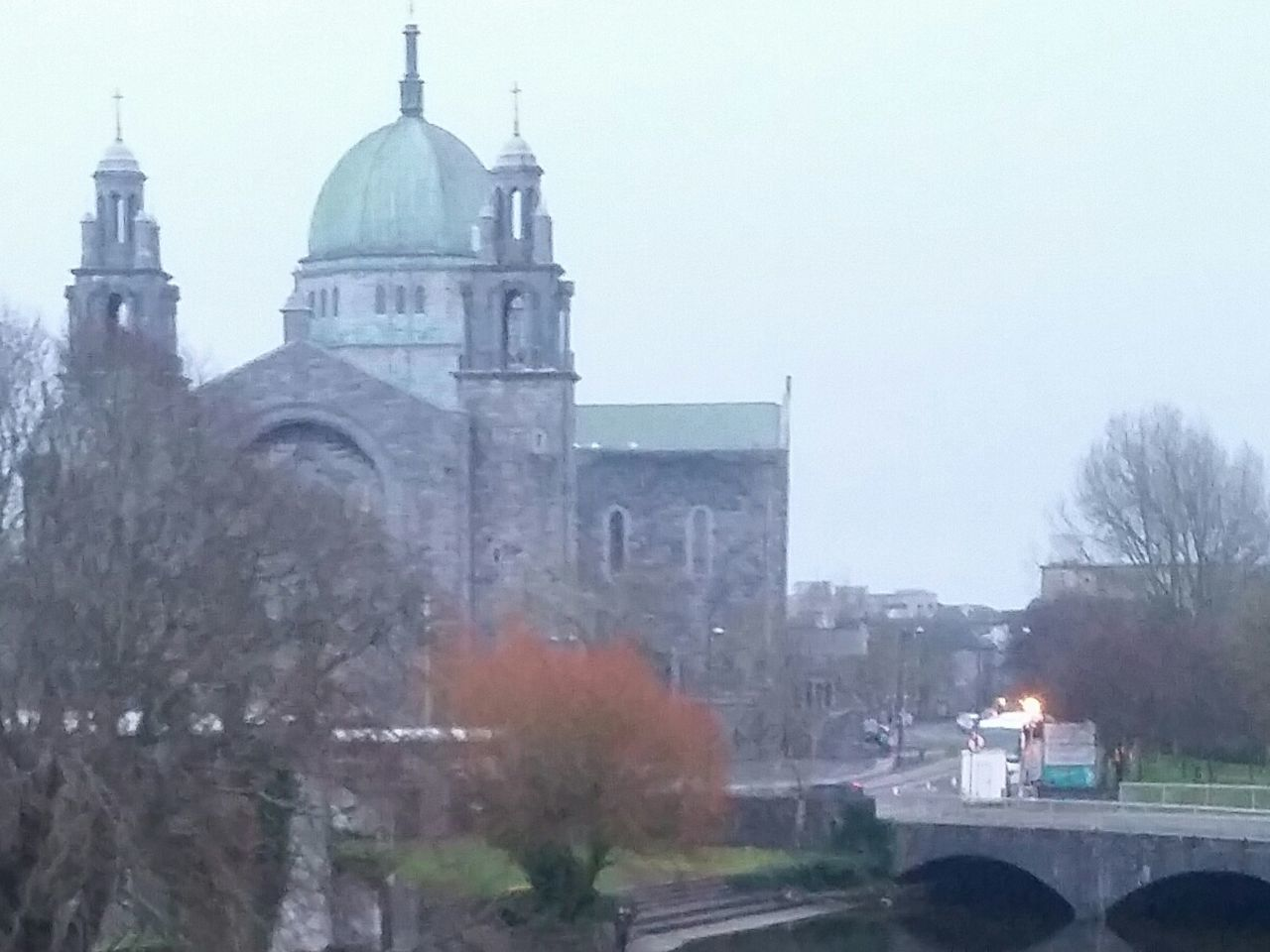 Galway Cathedral in Ireland Samsung Galaxy S5 Samsungphotography Bridge - Man Made Structure Galway City Galway,ireland Sky Samsung Building Exterior Architecture Travel Destinations The City Light Galway Cathedral Ireland Galway Clouds And Sky Freelance Life Taking Photos