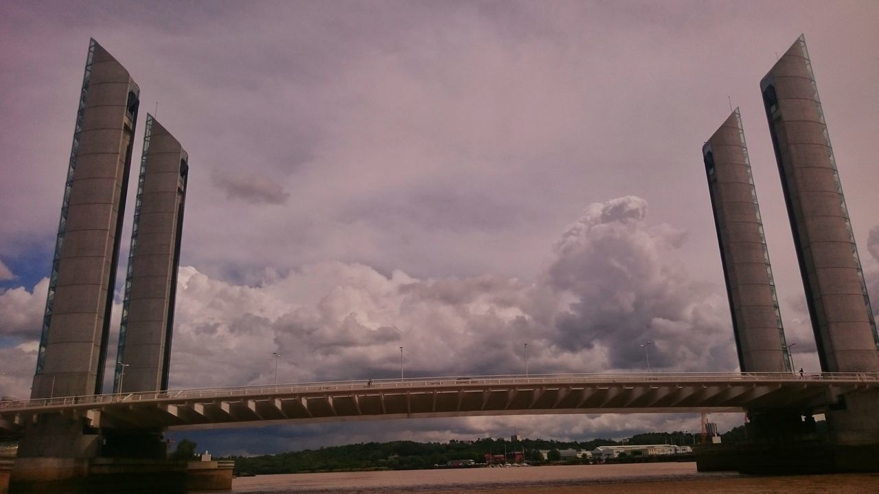 Built Structure Architecture Bridge - Man Made Structure Bordeaux, France Pont Chaban-Delmas Clouds And Sky