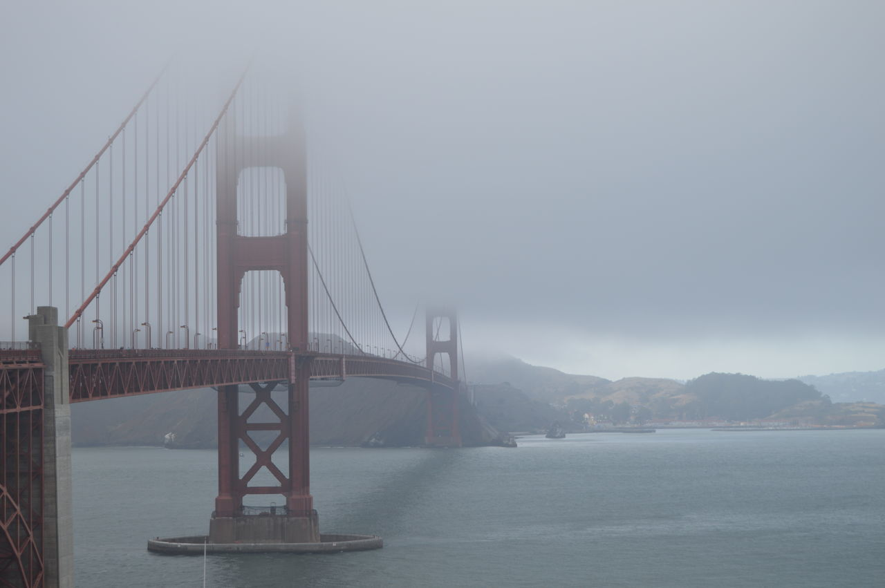 Architecture Bridge - Man Made Structure Built Structure City Connection Day Environment Fog Golden Gate Bridge Monument Mountain Nature No People Outdoors Scenics Sea Sky Suspension Bridge Transportation Travel Travel Destinations Water