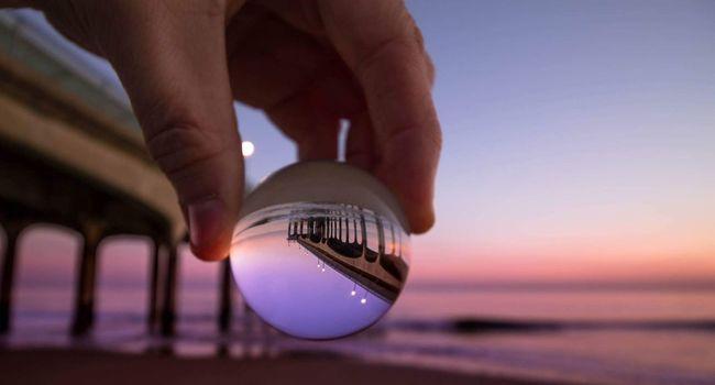 Little Crystal Ball Sunset Boscombe Pier  Market Bestsellers August 2016 Bestsellers