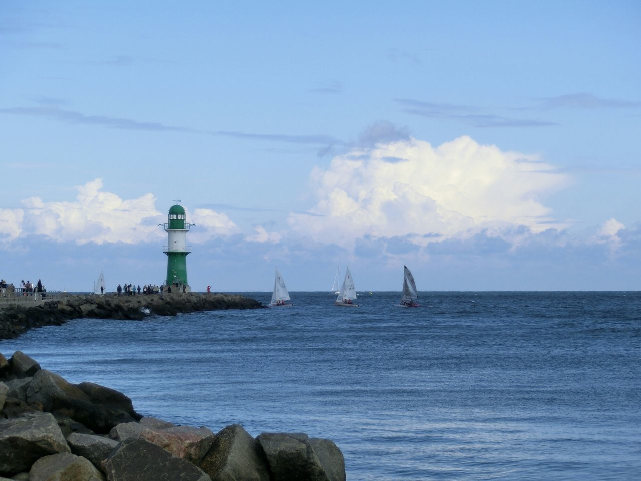 Beautiful stock photos of lighthouse, Baltic Sea, Beauty In Nature, Blue, Cloud - Sky