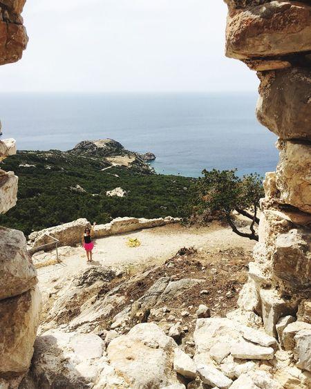 Monolithos Castle Castle Greece Ródos Rhodes Sea Sea View Traveling Tourist Ancient Civilization Ancient Ancient Ruins Exploring Young Women Seascape GREECE ♥♥