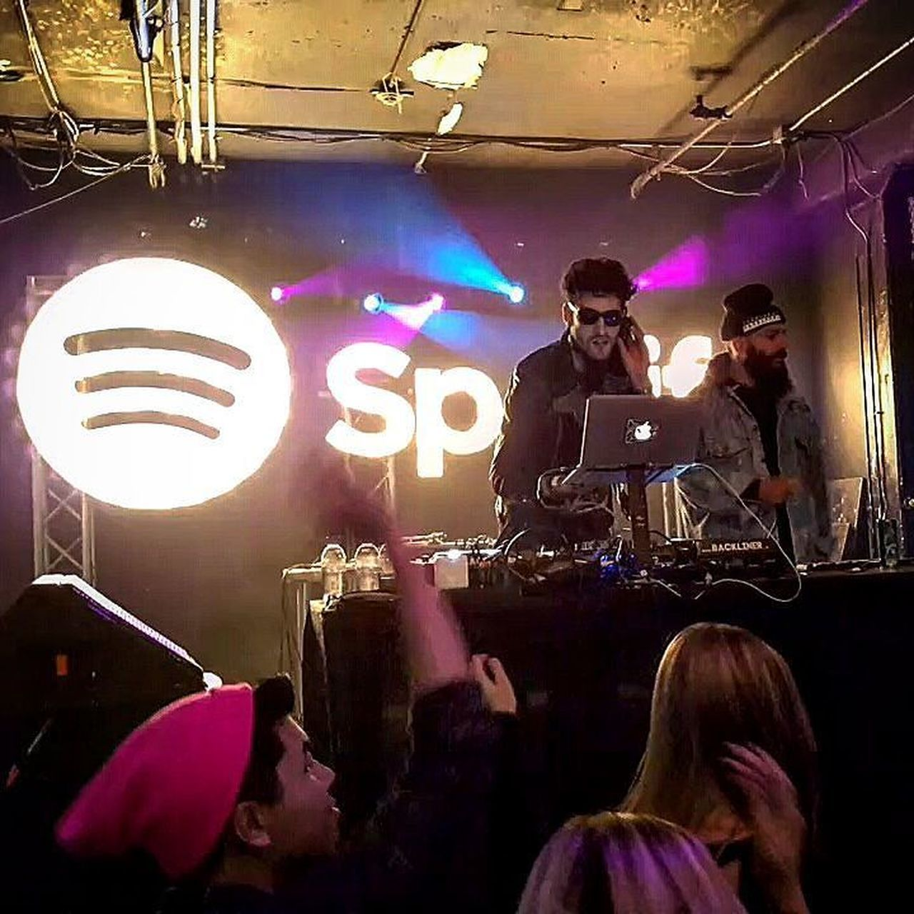 Spinning electro-funky vibes at Spotify Canada's 2nd 🎂 Day, 🇨🇦 boys Chromeo live last night at The Hoxton, Toronto. Nightlife Music Audience Popular Music Concert Indoors  Arts Culture And Entertainment Stage - Performance Space Dj Night Nightclub Crowd Spotify Spotifycanada Spotifyturns2 Chromeo Canada Rave Hoxton