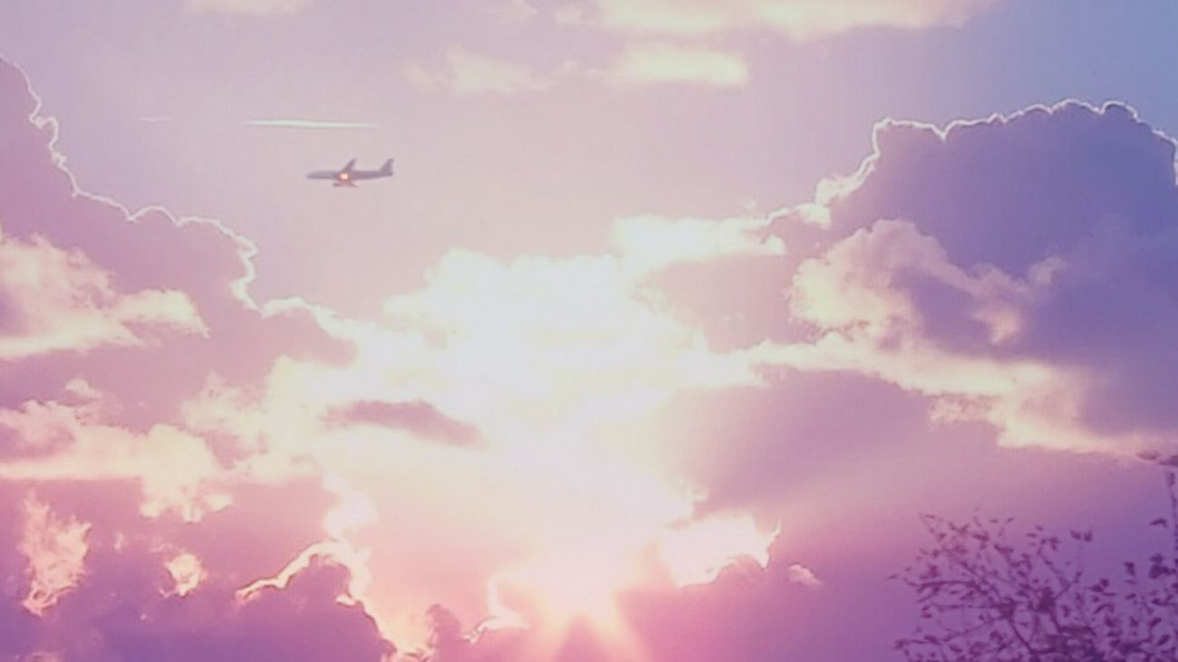 Flying Cloud - Sky Airplane Airshow Transportation No People Outdoors Silhouette Air Vehicle Sky Nature Day Germany Hello World Colors Trees Eeyem Photography Taking Photos EyeEm Gallery Eye4photography  Nature_collection Sky_collection Auntumn Nature Tree