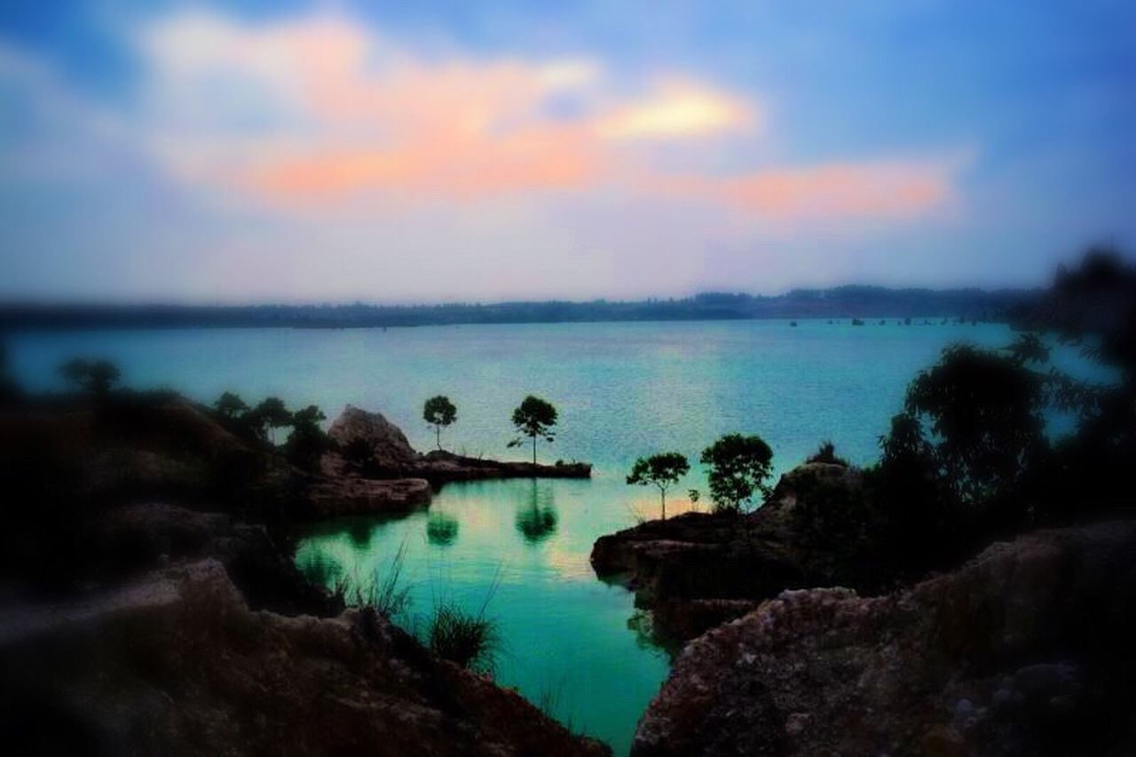 Water Scenics Beauty In Nature Tranquil Scene Nature Tranquility Sunset Sea Sky Outdoors No People Idyllic Horizon Over Water Tree Nautical Vessel Day