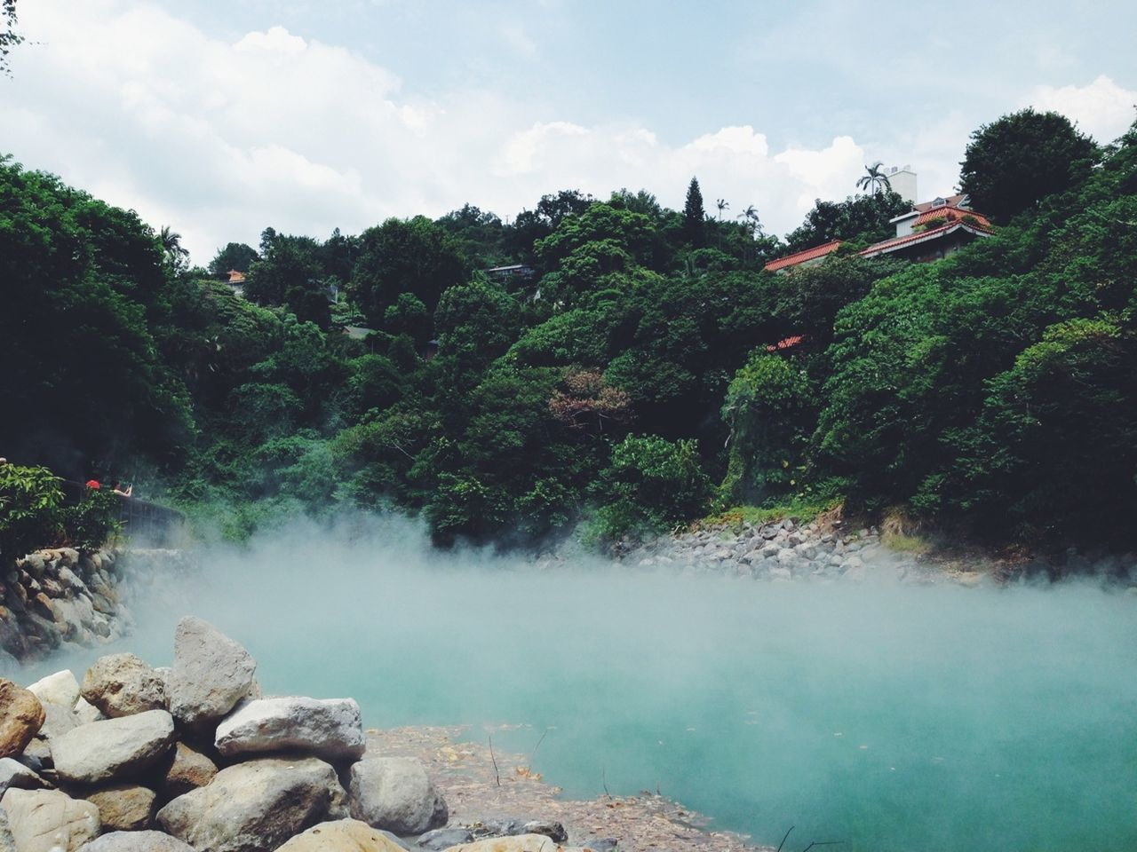 Hot Spring Traveling Landscape