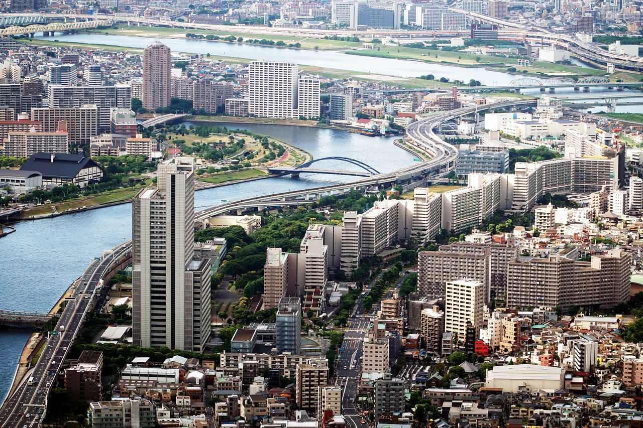 Architecture City Cityscape High Angle View Modern Skyscraper Tokyoskytree Travel Destinations Urban Skyline